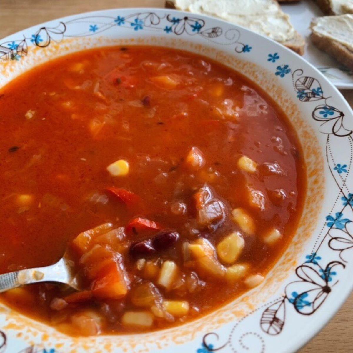 Веганский рецепт Мексиканский суп