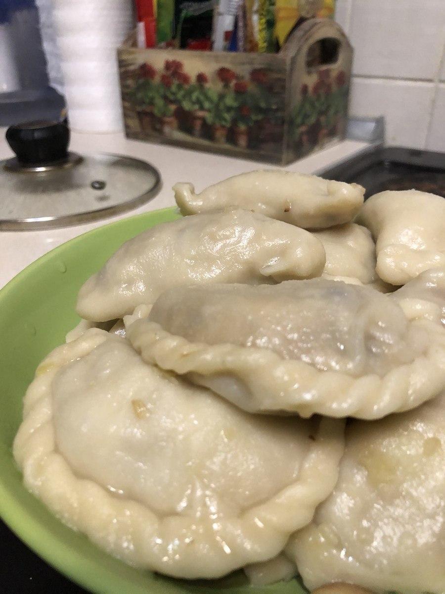 Веганский рецепт Вареники с картофелем и грибами
