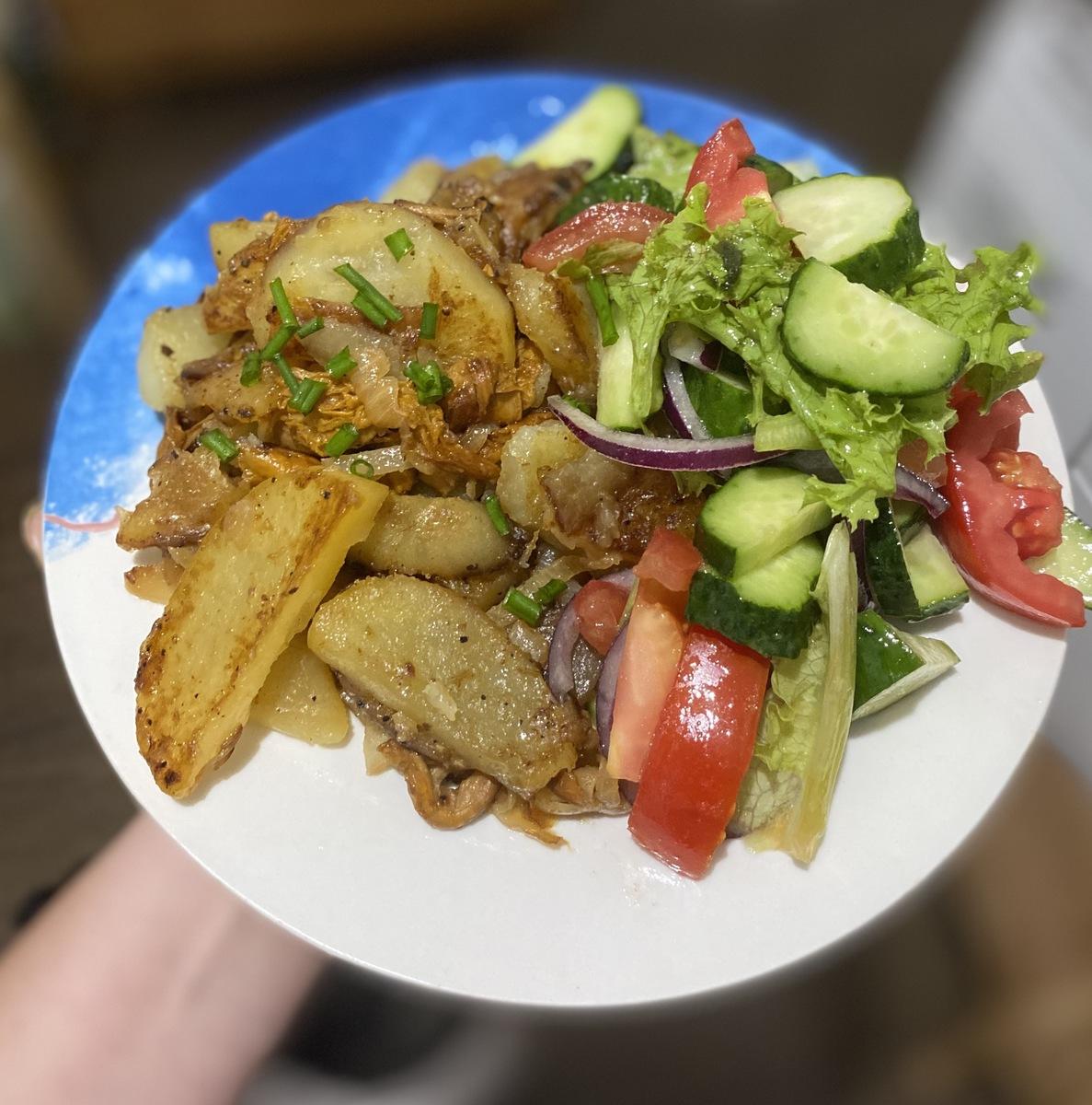 Веганский рецепт Лисички с картошкой