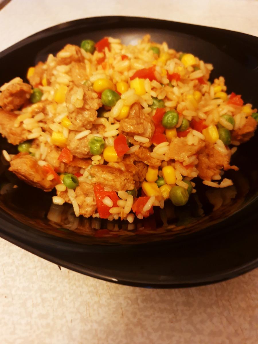 Веганский рецепт Гавайская смесь с соевым мясом
