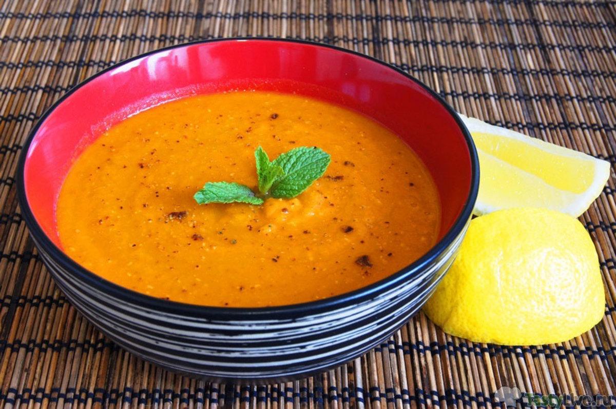 Веганский рецепт Чечевичный суп-пюре