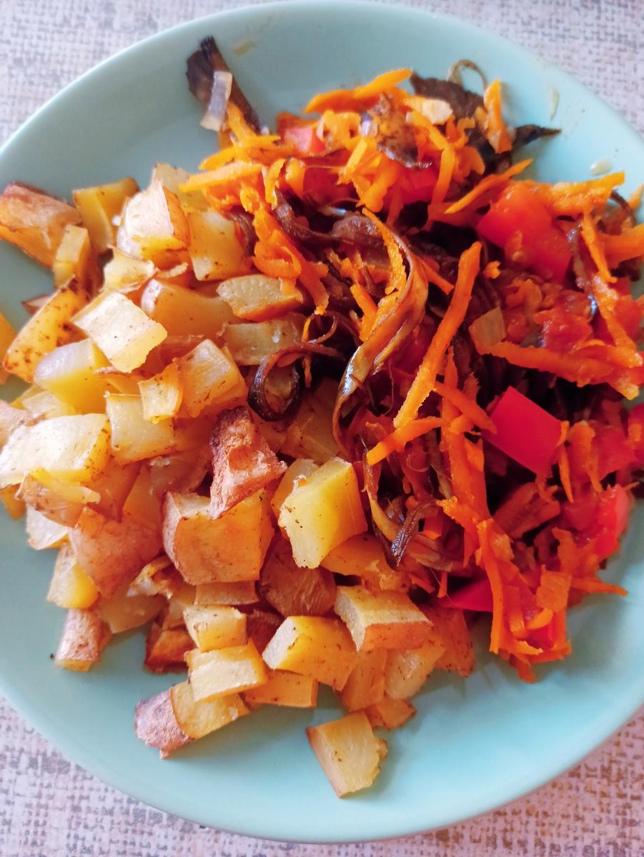 Веганский рецепт Тушеное НЕмясо с овощами