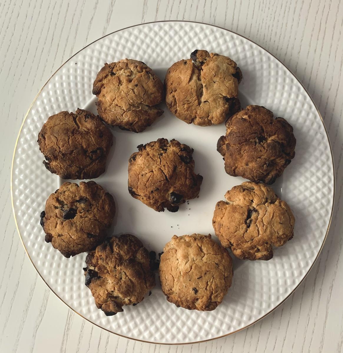 Веганский рецепт Печенье с шоколадом
