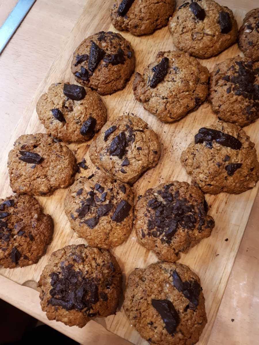 Веганский рецепт Овсяное печенье