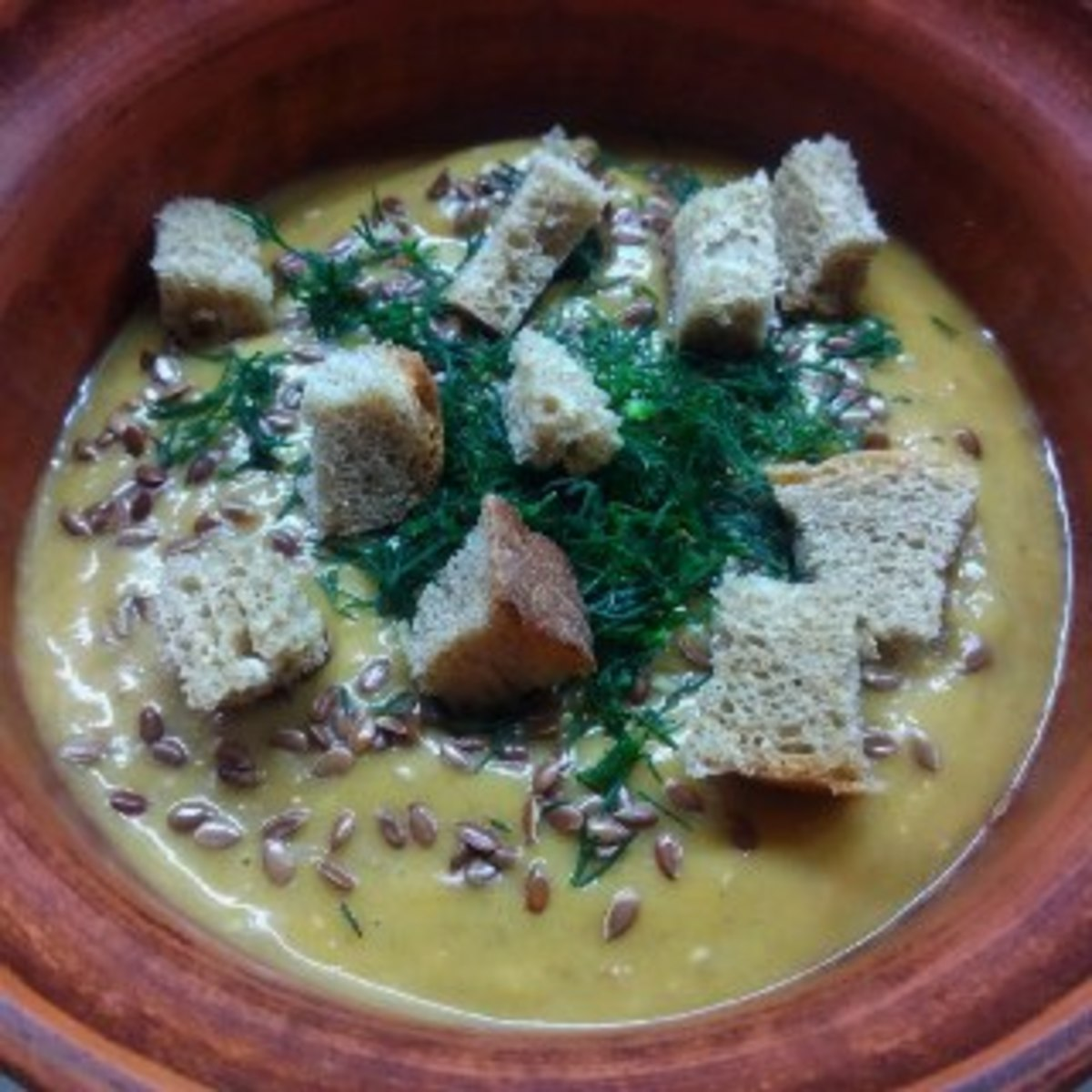 Веганский рецепт Чечевичный крем-суп