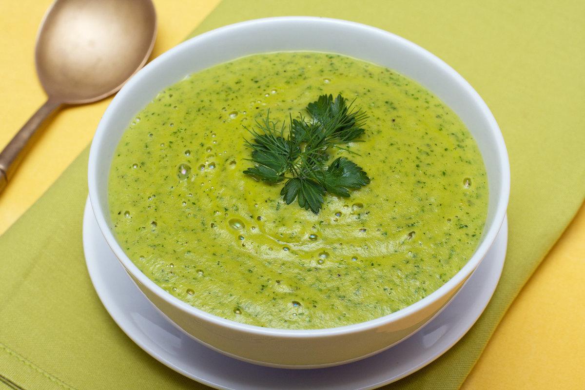 Веганский рецепт Шпинатный суп-сюре