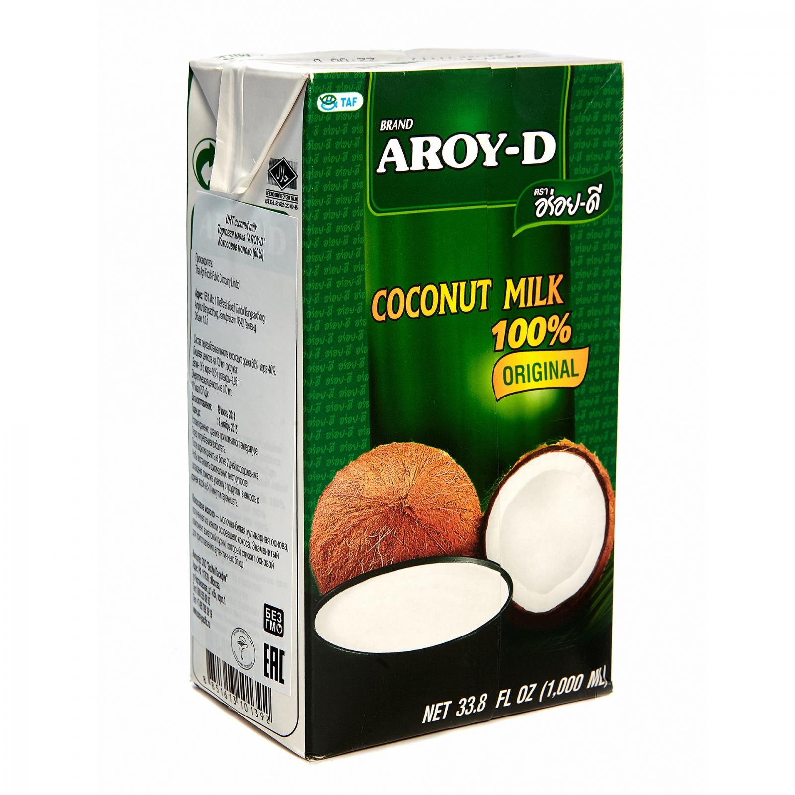 Кокосовое молоко Aroy-D 17-19% 250 мл